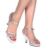Srebrne strass kamieńie 8 cm BELLE-316 buty na transwestyta