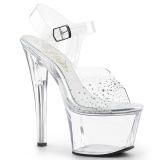 Strass kamieńie 18 cm SKY-308SD Platformie buty high heels