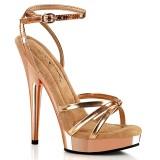 Vegan złota róża sandały 15 cm SULTRY-638 fabulicious sandały na obcasie