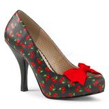 Wiśnia Wzór 11,5 cm PINUP-05 duże rozmiary szpilki buty