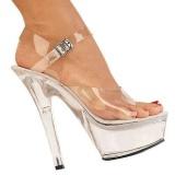 Wszystko Przeźroczysty 15 cm KISS-208 High Heels Platformie Buty