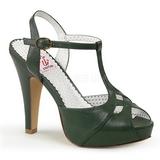 Zielony 11,5 cm retro vintage BETTIE-23 Sandały na obcasie wieczorowe