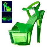 Zielony 18 cm SKY-309UVT Neon Sandały na wysokim obcasie