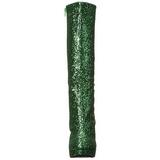 Zielony Glitter 13 cm LOLITA-300G Platformie Kozaki Damskie