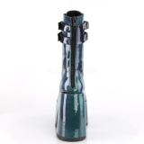 Zielony Lakierowane 12,5 cm CAMEL-250 Demonia Botki Platformie