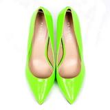 Zielony Neon 13 cm AMUSE-20 Czółenka na wysokim obcasie szpilki