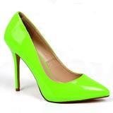 Zielony Neon 13 cm AMUSE-20 szpilki ze szpicem wysokie obcasy