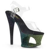 Zielony brokatem 18 cm Pleaser MOON-708OMBRE buty do tańca pole dance