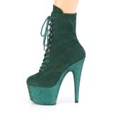 Zielony glitter 18 cm ADORE-1020FSMG botki do tańca pole dance