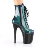 Zielony glitter 20 cm FLAMINGO-1020SHG botki do tańca pole dance