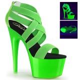 Zielony neon 18 cm Pleaser ADORE-769UV buty do tańca pole dance