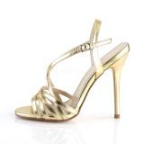 Złoto 13 cm Pleaser AMUSE-13 sandały na obcasie