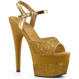 Złoto 18 cm ADORE-709-2G blasku sandały na platformie