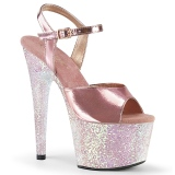 Złoto 18 cm ADORE-709LG buty na platformie obcasy glitter