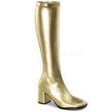 Złoto 8,5 cm Funtasma GOGO-300 Kozaki Damskie