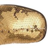 Złoto Cekinami 8 cm SPECTACUL-300SQ Kozaki Damskie