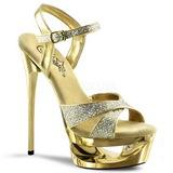 Złoto Glitter 16,5 cm Pleaser ECLIPSE-619G Platformie buty na szpilkach