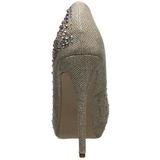 Złoto Kamieniami 13 cm DESTINY-06R platformy szpilki damskie