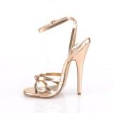 Złoto Róża 15 cm DOMINA-108 fetysz buty na obcasie