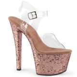 Złoto glitter 18 cm Pleaser SKY-308LG buty do tańca pole dance