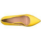 Żółty Neon 13 cm AMUSE-20 szpilki ze szpicem wysokie obcasy