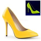 Żółty Neon 13 cm AMUSE-20 Czółenka na wysokim obcasie szpilki