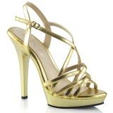 Złoto 13 cm Fabulicious LIP-113 sandały na obcasie