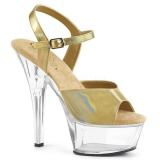 Złoto 15 cm KISS-209BHG Platformie buty high heels
