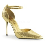 Złoto Blasku 10 cm APPEAL-21 damskie szpilki z metalowym obcasem