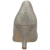 Złoto Kamieńiami 6,5 cm DORIS-06 Szpilki Wieczorowe z piętą