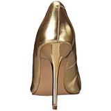Złoto Matowy 10 cm CLASSIQUE-20 Czółenka na wysokim obcasie szpilki