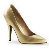 Złoto Matowy 13 cm SEDUCE-420 Buty na wysokim obcasie szpilki