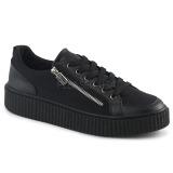 lniane 4 cm SNEEKER-105 sneakersy creepers buty