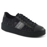 lniane 4 cm SNEEKER-106 sneakersy creepers buty