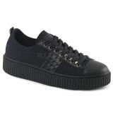 lniane 4 cm SNEEKER-107 sneakersy creepers buty