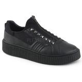 lniane 4 cm SNEEKER-125 sneakersy creepers buty