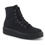 lniane 4 cm SNEEKER-201 sneakersy creepers buty