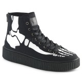 lniane 4 cm SNEEKER-252 sneakersy creepers buty