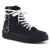 lniane 4 cm SNEEKER-256 sneakersy creepers buty