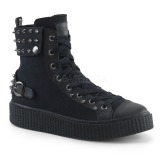 lniane 4 cm SNEEKER-266 sneakersy creepers buty