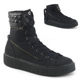 lniane 4 cm SNEEKER-270 sneakersy creepers buty