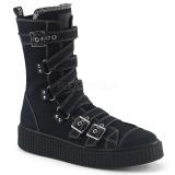 lniane 4 cm SNEEKER-318 sneakersy creepers buty